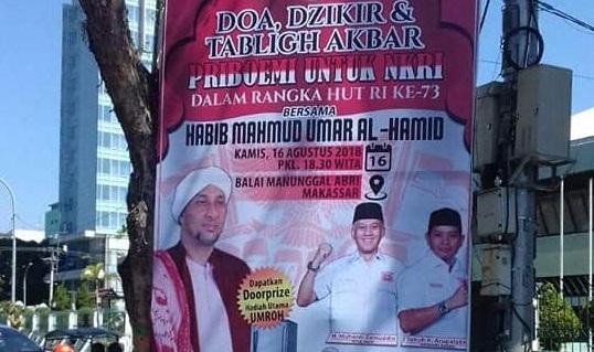Baliho Partai Priboemi di Makassar