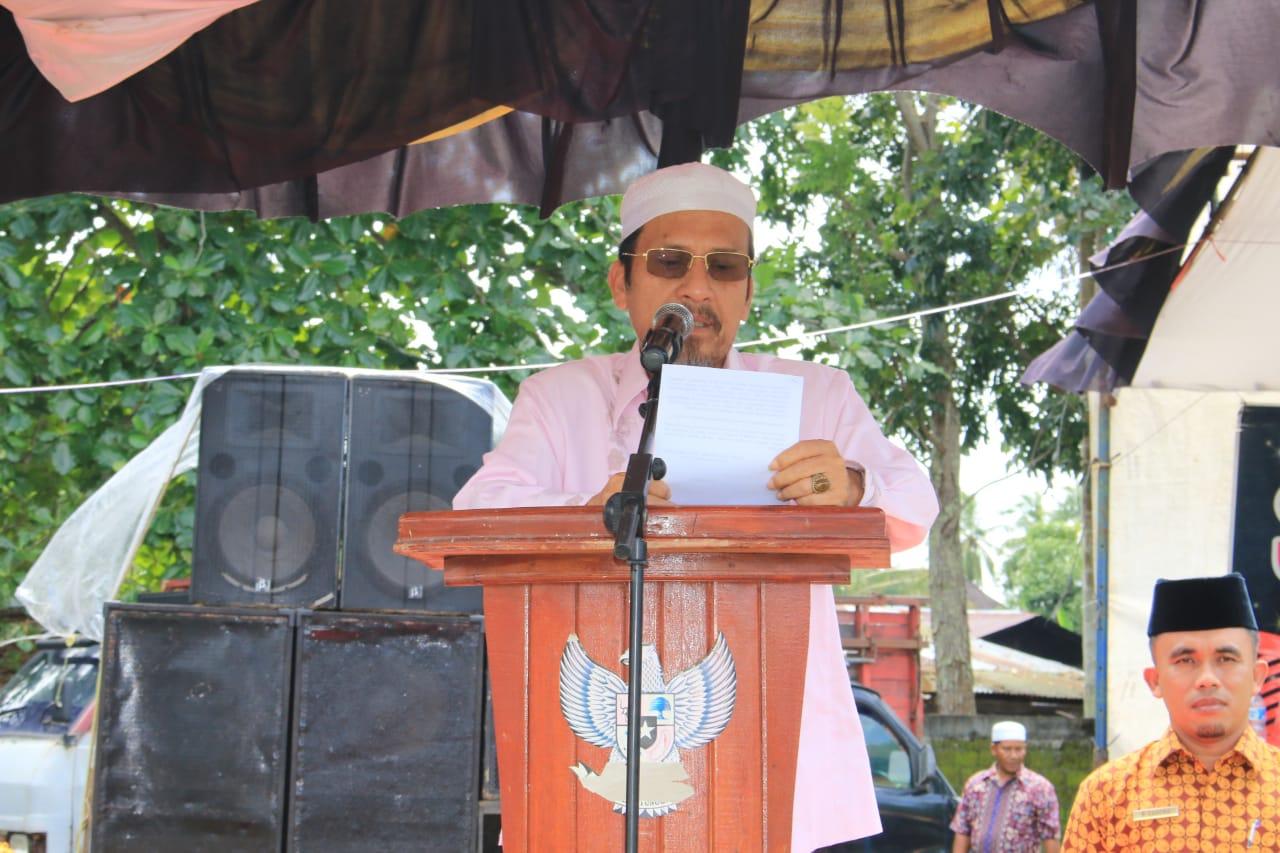 Bupati Pasbar, H. Syahiran pada saat penutupan MTQ, Minggu (25/11/18).
