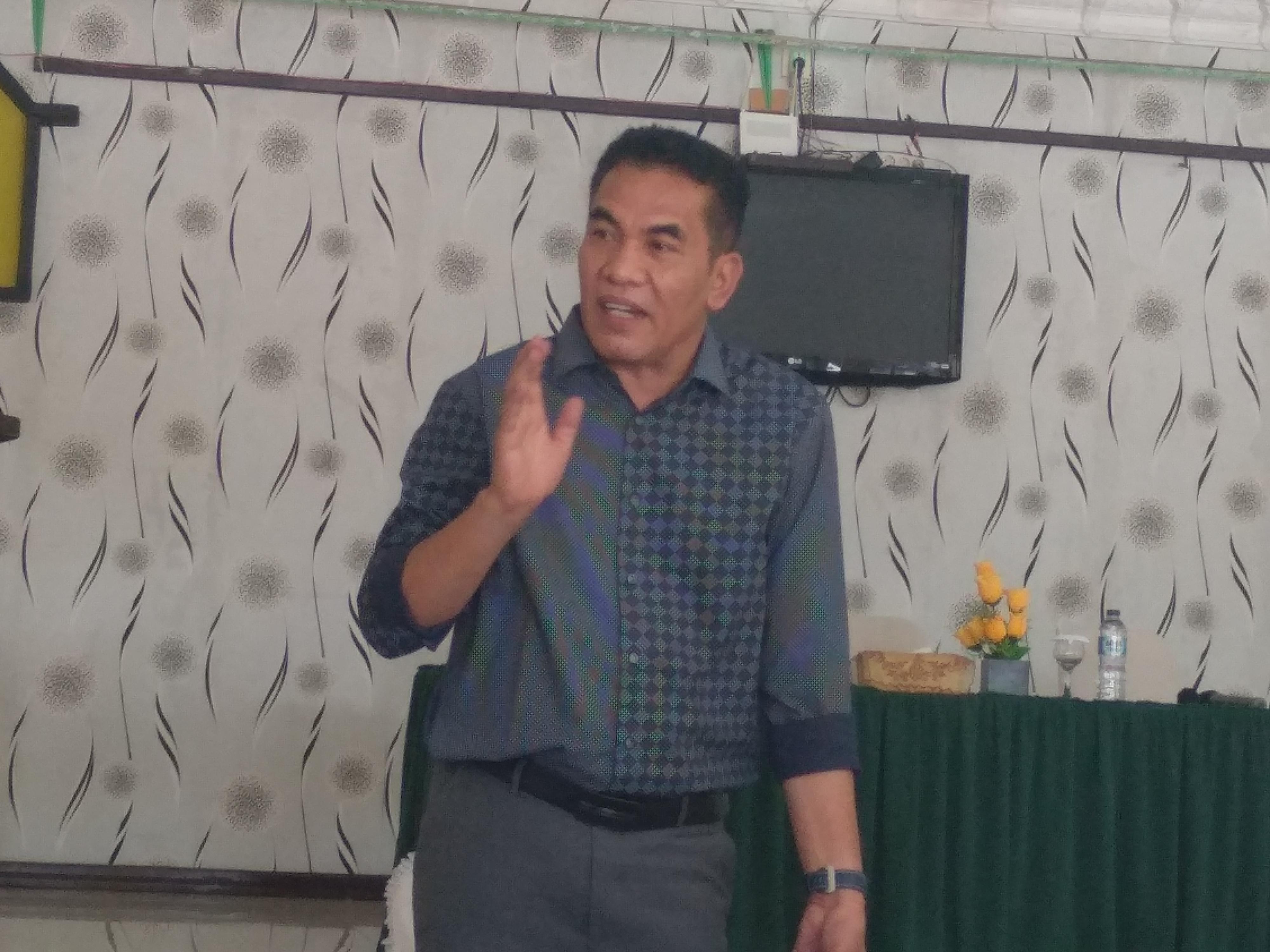 Caleg DPR RI HN di Sari Rasa Lubuk Sikaping, Jum'at (21/12/18).