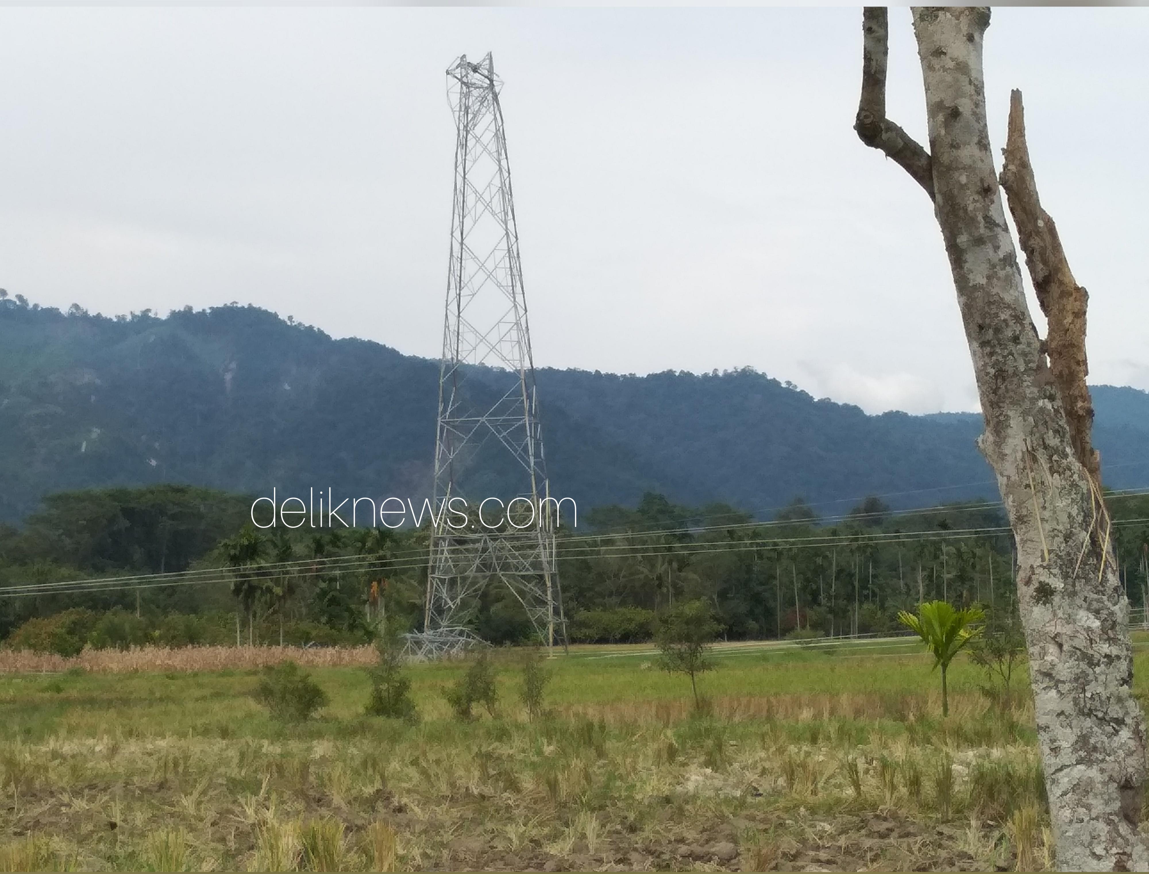 Tower SUTET rusak di Pasaman terlihat belum diperbaiki, Minggu (23/12/18).