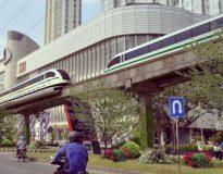 Gambar rancangan LRT di Surabaya.