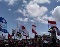 Pidato Prabowo, dalam kampanye terbuka