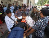 Anggota PPK yang tumbang di GOR Pancasila (Ist)