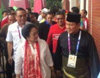 Megawati dan Prabowo di satu kesempatan (Ist)