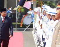 Prabowo Subianto di DPP Gerindra (Foto : Gun/Deliknews.com)