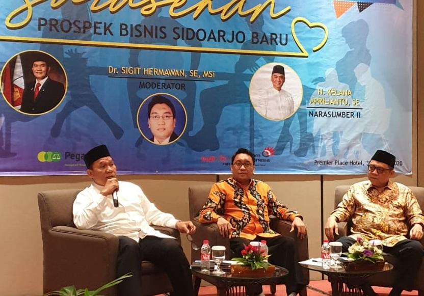 Bambang Haryo saat menjadi narasumber Sarasehan Kadin Sidoarjo