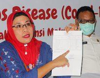 dr Rosita Alkatiri saat jumpa pers/Istimewa