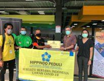 Hippindo-Gojek saat menyalurkan Bantuan tahao 4 di 5 Wilayah DKI Jakarta
