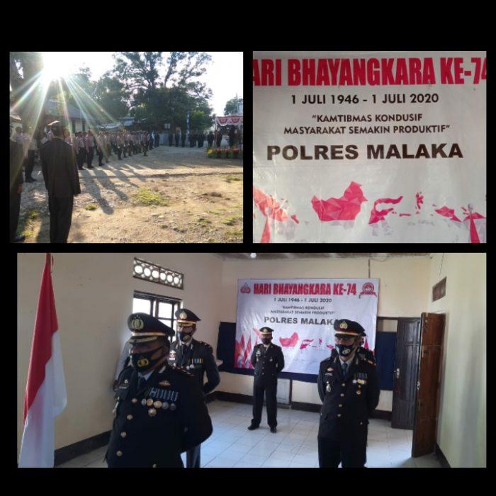 HUT Bhayangkara Ke-74, AKBP. Albert Neno. SH Jadi Inspektur Upacara