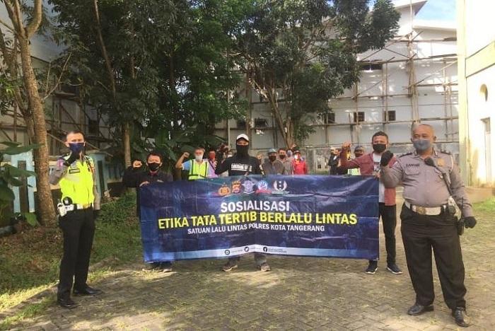 Satlantas Polresta Tangerang Edukasi Pengguna Jalan