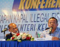 Menteri KKP, Edhy Prabowo saat konferensi pers.