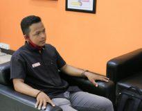 Darlin WM saat Vicon dengan BPK RI dari Kantor BPK Perwakilan Sumatera Barat di Kota Padang.