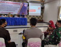 Bawaslu Pasaman rapat koordinasi dengan Forkopimda dan stakeholder, di Lubuk Sikaping, Rabu (30/9/20).