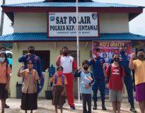 Sat Polair Polres Mentawai sediakan Wi-Fi gratis untuk pelajar.