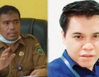 Foto Kepala Dinas Sosial Pemkab Pasaman Amdarisman dan Cluster Manajer Bank Mandiri Cabang Pasaman Dodi.