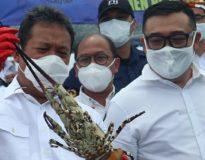 Foto: Menteri KKP Sakti Wahyu Trenggono bersama Ketua Umum GPLI, Gunawan Suherman (kanan).