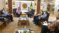 Plt. Wali Kota Padang Hendri Sapta mengunjungi Menteri Pertanian (Mentan) Syahrul Yasin Limpo di di ruang Mentan Jl Harsono RM, Ragunan Jakarta Selatan, Jum'at (19/3/21).